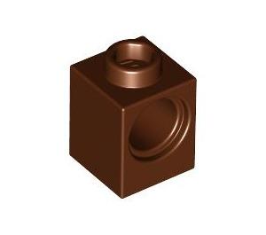 LEGO Reddish Brown Technic Brick 1 x 1 with Hole (6541)
