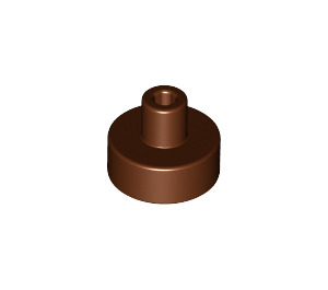 LEGO Reddish Brown Tile 1 x 1 Round with Hollow Bar (20482 / 31561)