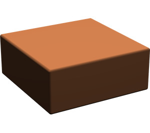 LEGO Reddish Brown Tile 1 x 1 without Groove (3070)