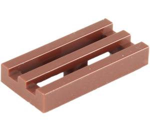 LEGO Reddish Brown Tile 1 x 2 Grille (with Bottom Groove) (2412)