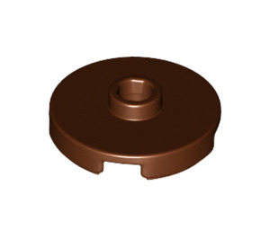 LEGO Reddish Brown Tile 2 x 2 Round with Stud (18674)