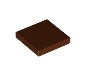 LEGO Reddish Brown Tile 2 x 2 with Groove (3068)