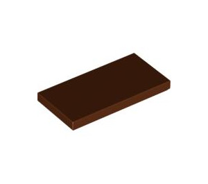 LEGO Reddish Brown Tile 2 x 4 (87079)
