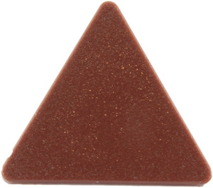LEGO Reddish Brown Triangular Sign with Clip (30259 / 65676)