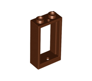 LEGO Reddish Brown Window 1 x 2 x 3 without Sill (60593)