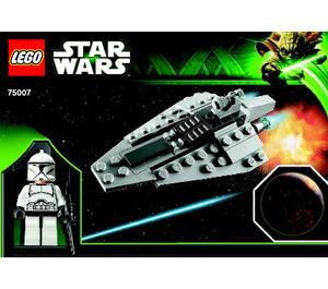LEGO Republic Assault Ship & Planet Coruscant Set 75007 Instructions