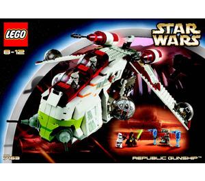 LEGO Republic Gunship Set 7163 Instructions