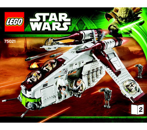 LEGO Republic Gunship Set 75021 Instructions