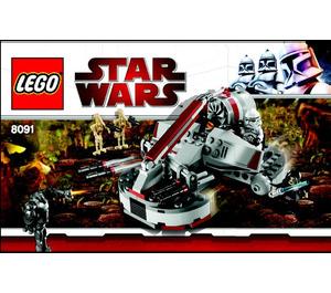 LEGO Republic Swamp Speeder Set 8091 Instructions