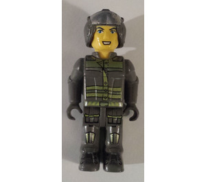 LEGO Res-Q Worker with Open Helmet and Wide Smile Minifigure