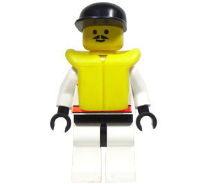 LEGO Rescuer with Moustache, Life Jacket and Cap Minifigure
