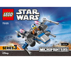 LEGO Resistance X-wing Fighter Microfighter Set 75125 Instructions