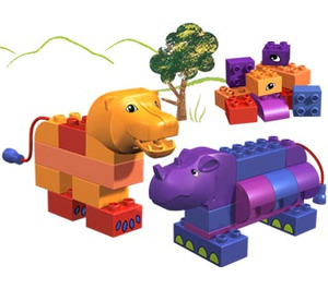 LEGO Rhino and Lion Set 3514