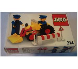LEGO Road repair crew Set 214-1 Packaging