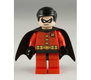 LEGO Robin with Red Suit and Black Cape Minifigure