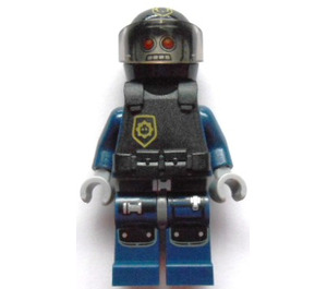 LEGO Robo SWAT with Black Helmet with Police Badge Sign Minifigure