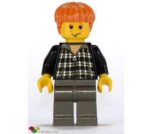 LEGO Ron Weasley with Plaid Black and White Shirt Minifigure