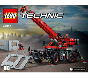 LEGO Rough Terrain Crane Set 42082 Instructions