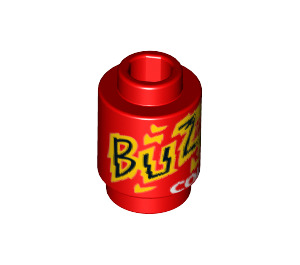 """LEGO Round Brick 1 x 1 with """"Buzz Cola"""" Decoration with Open Stud (21614)"""