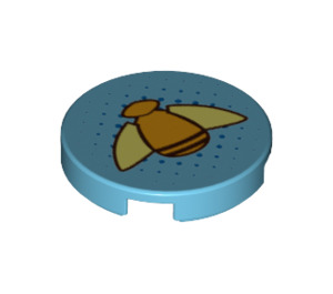 LEGO Round Tile 2 x 2 with Bumblebee Decoration with Bottom Stud Holder (29436)