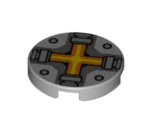 LEGO Round Tile 2 x 2 with Cross with Bottom Stud Holder (24396)