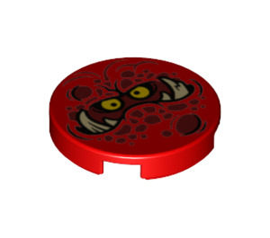 LEGO Round Tile 2 x 2 with Decoration with Bottom Stud Holder (24398)