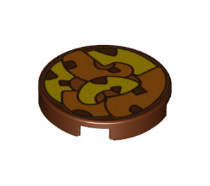 LEGO Round Tile 2 x 2 with Decoration with Bottom Stud Holder (24691)