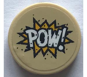 """LEGO Round Tile 2 x 2 with """"POW!"""" Sticker (14769)"""