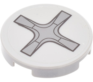 LEGO Round Tile 2 x 2 with Screw head Sticker (14769)