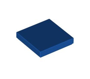 LEGO Royal Blue Tile 2 x 2 with Groove (3068)