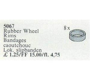 LEGO Rubber Wheel Rims Set 5067