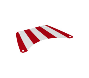 LEGO Sail with Red Stripes (147 x 100 mm) (19939)