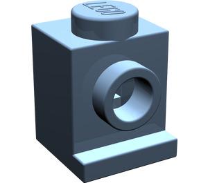 LEGO Sand Blue Brick 1 x 1 with Headlight and No Slot (4070)