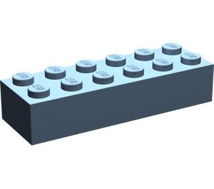 LEGO Sand Blue Brick 2 x 6 (44237)