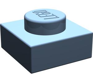 LEGO Sand Blue Plate 1 x 1 (3024)