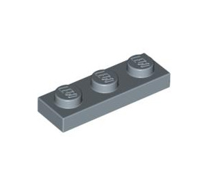 LEGO Sand Blue Plate 1 x 3 (3623)