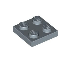 LEGO Sand Blue Plate 2 x 2 (3022)