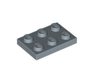 LEGO Sand Blue Plate 2 x 3 (3021)