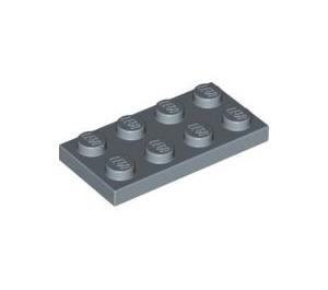 LEGO Sand Blue Plate 2 x 4 (3020)