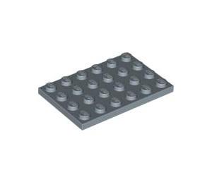 LEGO Sand Blue Plate 4 x 6 (3032)