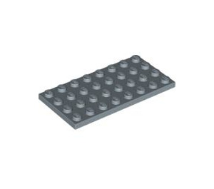 LEGO Sand Blue Plate 4 x 8 (3035)