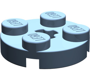 LEGO Sand Blue Round Plate 2 x 2 with Axle Hole (with '+' Axle Hole) (4032)