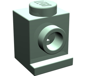 LEGO Sand Green Brick 1 x 1 with Headlight and No Slot (4070)