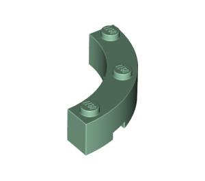 LEGO Sand Green Brick Corner 4 x 4 (Wide with 3 Studs) (48092)