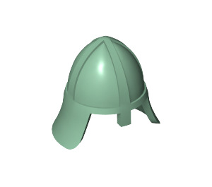 LEGO Sand Green Knights Helmet with Neck Protector (3844)