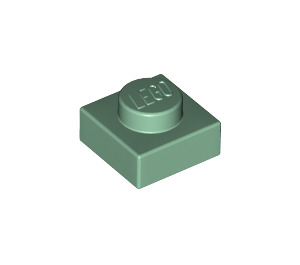 LEGO Sand Green Plate 1 x 1 (3024)