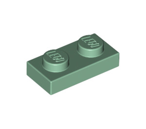 LEGO Sand Green Plate 1 x 2 (3023)