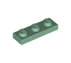 LEGO Sand Green Plate 1 x 3 (3623)
