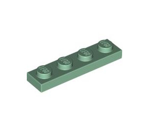 LEGO Sand Green Plate 1 x 4 (3710)