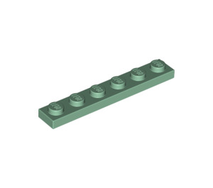 LEGO Sand Green Plate 1 x 6 (3666)